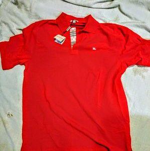 NWT. Burberry short sleeve with polo collar.
